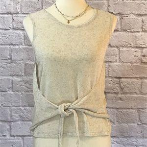 mo:vint Cream sweater, waist tie, S